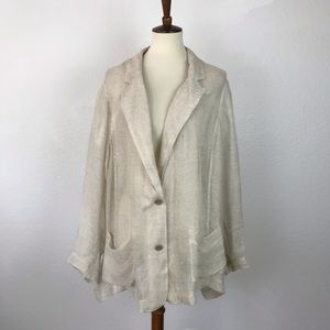 Eileen Fisher Sheer Linen Blend Blazer